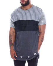 Buyers Picks - Color Block American Tee w/ Nylon Panel, Waterproof Zip+Metallic Print Star (B&T)-2349994