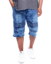 Phat Farm - Washed Stretch Moto Denim Shorts (B&T)-2350906