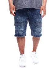 Phat Farm - Washed Stretch Moto Denim Shorts (B&T)-2351022