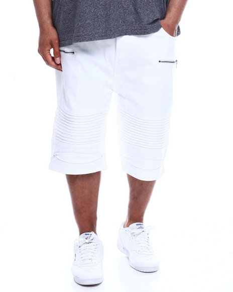 Phat Farm - Stretch Moto Bull Denim Shorts (B&T)