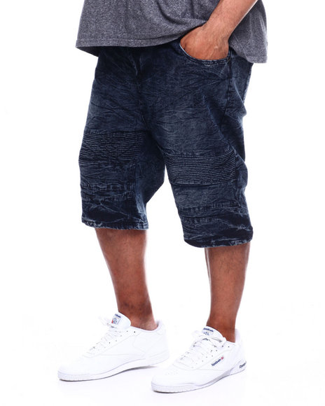 Phat Farm - Washed Stretch Moto Denim Shorts (B&T)