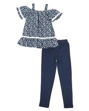 Girls - Printed Chambray & Legging Set (4-6X)-2345901