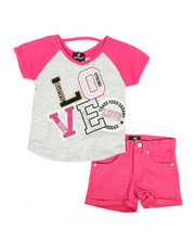 Dollhouse - 2 Pc Tee & Shorts Set (4-6X)-2342744