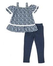 Girls - Printed Chambray & Legging Set (2T-4T)-2345897