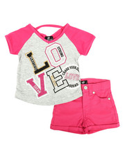 Dollhouse - 2 Pc Tee & Shorts Set (2T-4T)-2342740