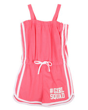 Girls - Romper w/ Contrast Color Taping (4-6X)-2348709