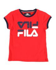 Girls - Fila Red Crop Ringer Tee (7-16)-2348995