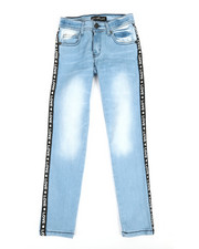 Girls - Jeans W/ Side Taping (7-16)-2347290