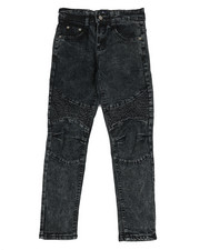 Jeans - Skinny Stretch Washed Moto Jeans (8-20)-2350465