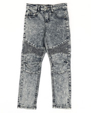 Jeans - Skinny Stretch Washed Moto Jeans (8-20)-2350458