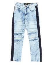Boys - Taping Ripped Knee Jeans (4-7)-2349714