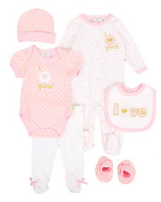 Girls - 7 Piece Love Print Gift Set (Infant)-2345837