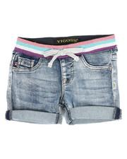Girls - Rainbow Knit Waist Shorts (4-6X)-2348957