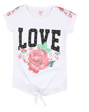 Girls - Floral Embroidery Top (7-16)-2346730