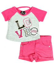 Dollhouse - 2 Pc Tee & Shorts Set (Infant)-2345640