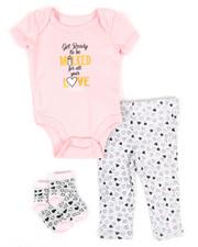 Infant & Newborn - 3 Piece Slogan Knit Set (Infant)-2345517