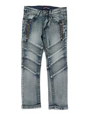 Sizes 4-7x - Kids - Washed Stretch Moto Denim Jeans (4-7)-2350453