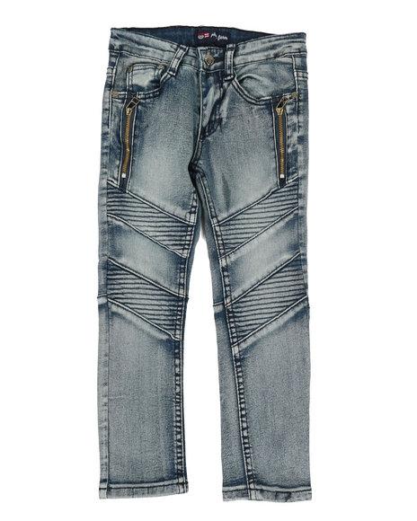 Phat Farm - Washed Stretch Moto Denim Jeans (4-7)