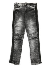 Arcade Styles - Taping Ripped Knee Jeans (8-20)-2348672