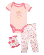 Infant & Newborn - 3 Piece Slogan Knit Set (Infant)-2345513