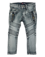 Sizes 2T-4T - Toddler - Washed Stretch Moto Denim Jeans (2T-4T)-2349719