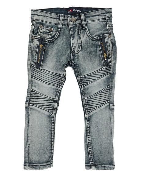 Phat Farm - Washed Stretch Moto Denim Jeans (2T-4T)