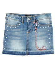 Girls - Hem And Release Denim Skirt (7-16)-2350473