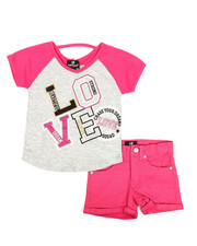 Dollhouse - 2 Pc Tee & Shorts Set (7-16)-2345603
