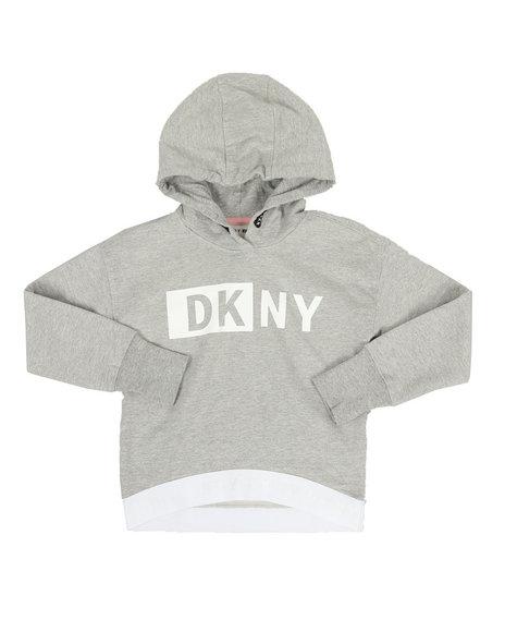 DKNY Jeans - Jacquard Logo Elastic Hoodie (7-16)