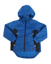 Boys - Color Block Rain Shell Full Zip Jacket (4-7)-2348787