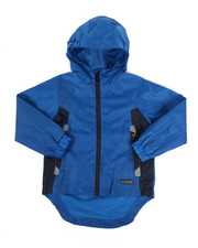 Boys - Color Block Rain Shell Full Zip Jacket (2T-4T)-2348765