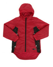 Boys - Color Block Rain Shell Full Zip Jacket (8-18)-2349310