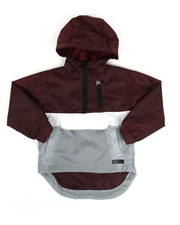 Boys - Pullover Color Block Rain Shell Anorak Jacket (2T-4T)-2348757
