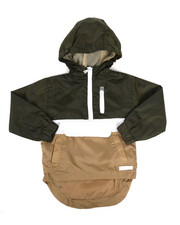 Boys - Pullover Color Block Rain Shell Anorak Jacket (2T-4T)-2348745