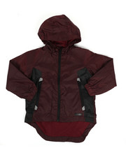 Boys - Color Block Rain Shell Full Zip Jacket (4-7)-2349324