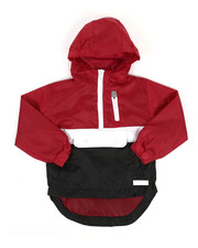 Boys - Pullover Color Block Rain Shell Anorak Jacket (2T-4T)-2348749