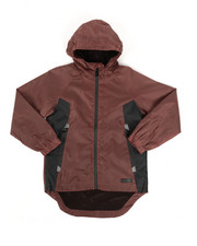 Boys - Color Block Rain Shell Full Zip Jacket (8-18)-2348792