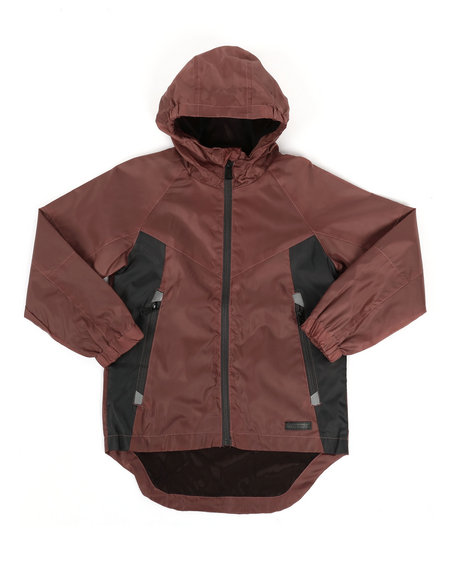 Arcade Styles - Color Block Rain Shell Full Zip Jacket (8-18)