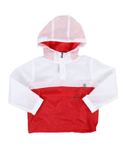 Boys - Pullover Color Block Rain Shell Anorak Jacket (4-7)-2348777