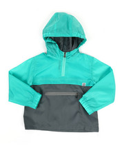 Boys - Pullover Color Block Rain Shell Anorak Jacket (4-7)-2348782