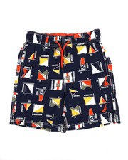 Boys - Printed Swim Trunks W/ Drawcords (8-20)-2351362