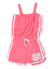 Girls - Romper w/ Contrast Color Taping (7-16)-2349583