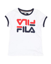 Fila - Fila Red Crop Ringer Tee (7-16)-2348991