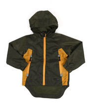 Boys - Color Block Rain Shell Full Zip Jacket (2T-4T)-2347730