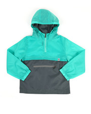 Boys - Pullover Color Block Rain Shell Anorak Jacket (8-18)-2349346