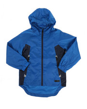 Boys - Color Block Rain Shell Full Zip Jacket (8-18)-2348797
