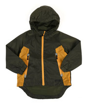 Boys - Color Block Rain Shell Full Zip Jacket (4-7)-2349305