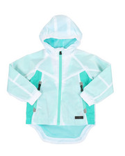 Boys - Color Block Rain Shell Full Zip Jacket (2T-4T)-2349301