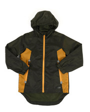 Boys - Color Block Rain Shell Full Zip Jacket (8-18)-2349334