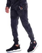 Men - Camo Print Reflective Zipper Jogger-2352029